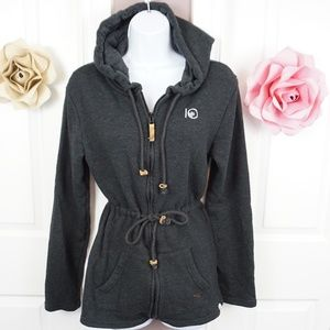 Ten Tree | Long Hoodie with Drawstring Waist